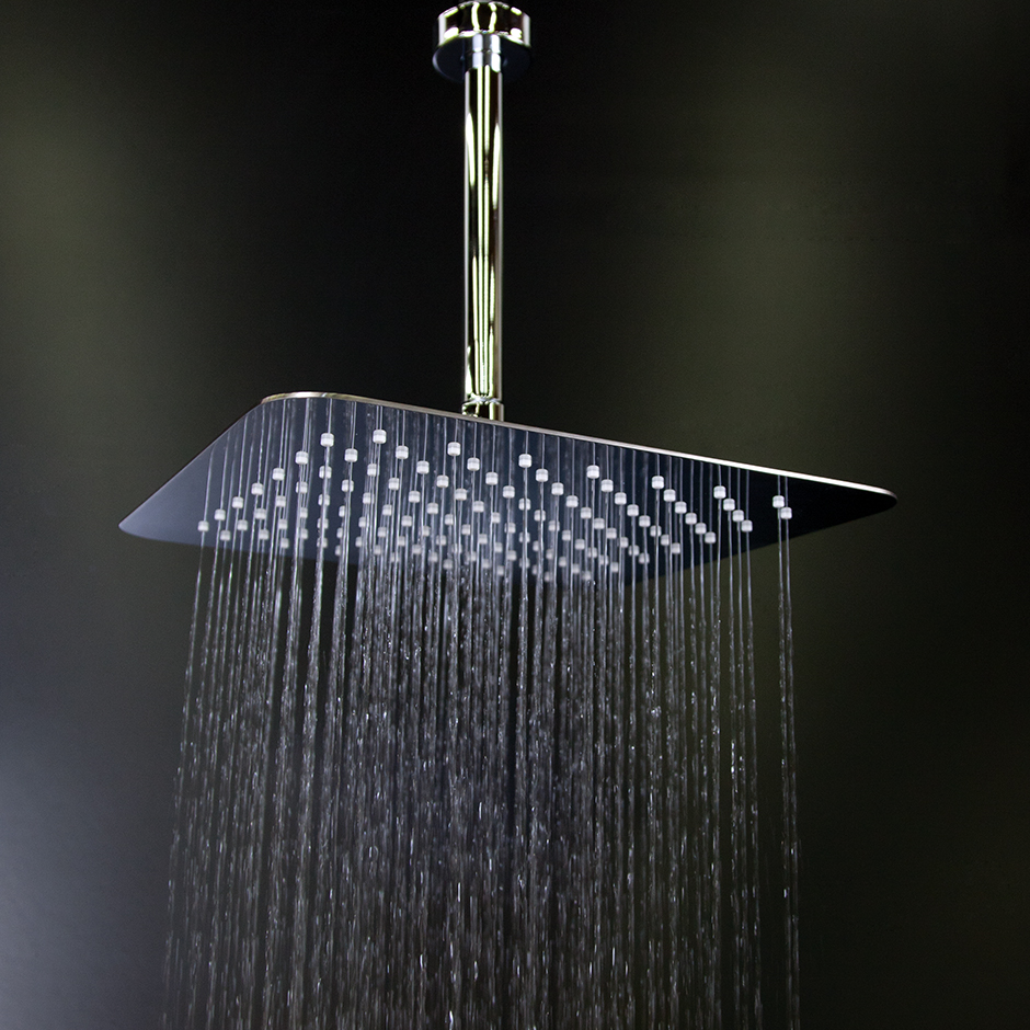 The gallery for gt rain shower head ceiling mount flush ceiling mounted rain shower head home - Rain shower head ...