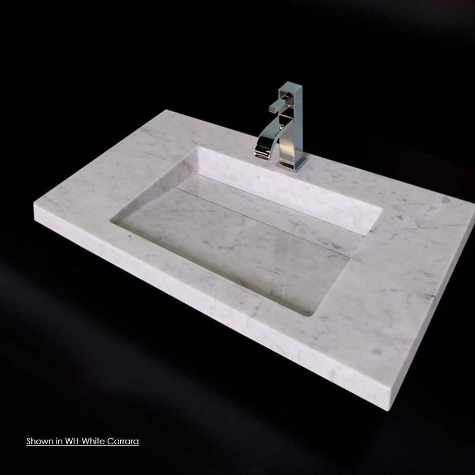 Lacava Wall Mount Sink : LACAVA - 5301 Libera Washbasin in Stone Washbasins