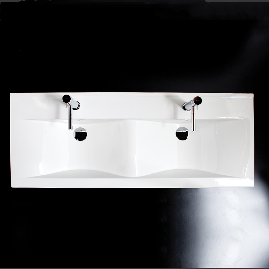 5470 Spring Double Bowl Lavatory in VANITY TOP
