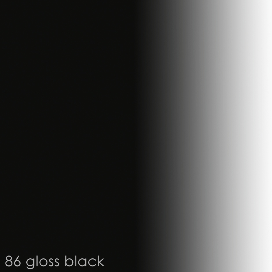 86 - gloss black paint