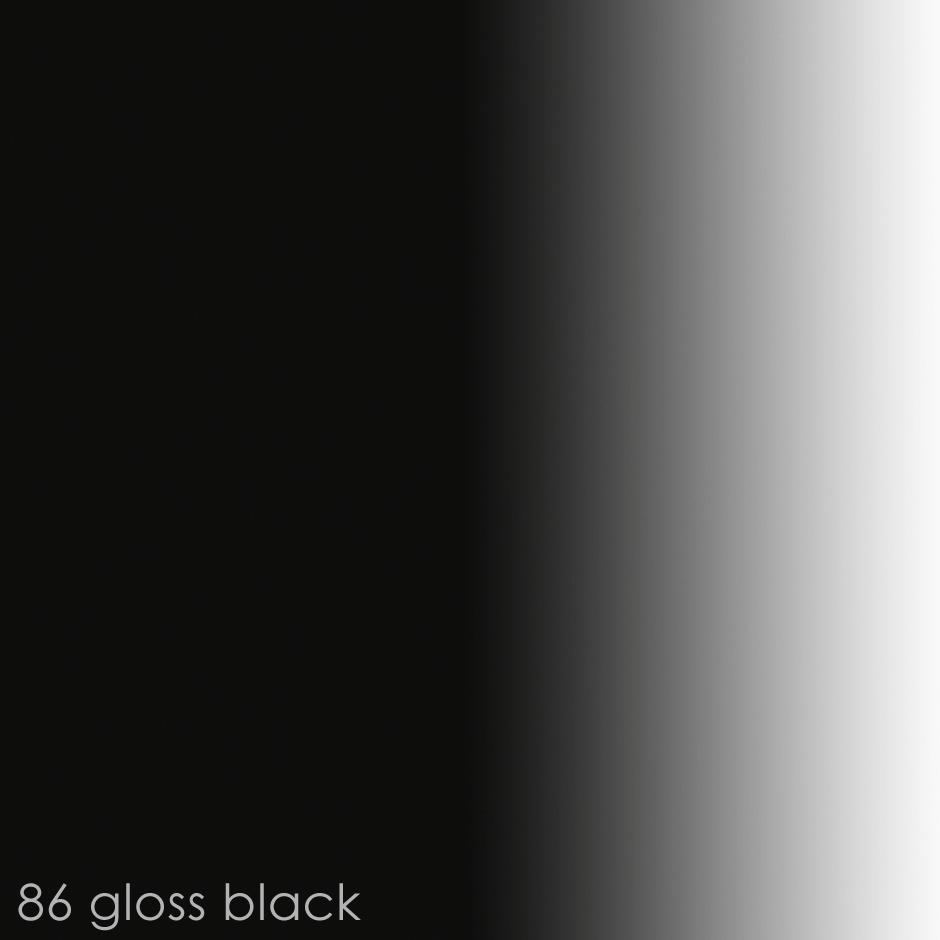 86 - gloss black paint