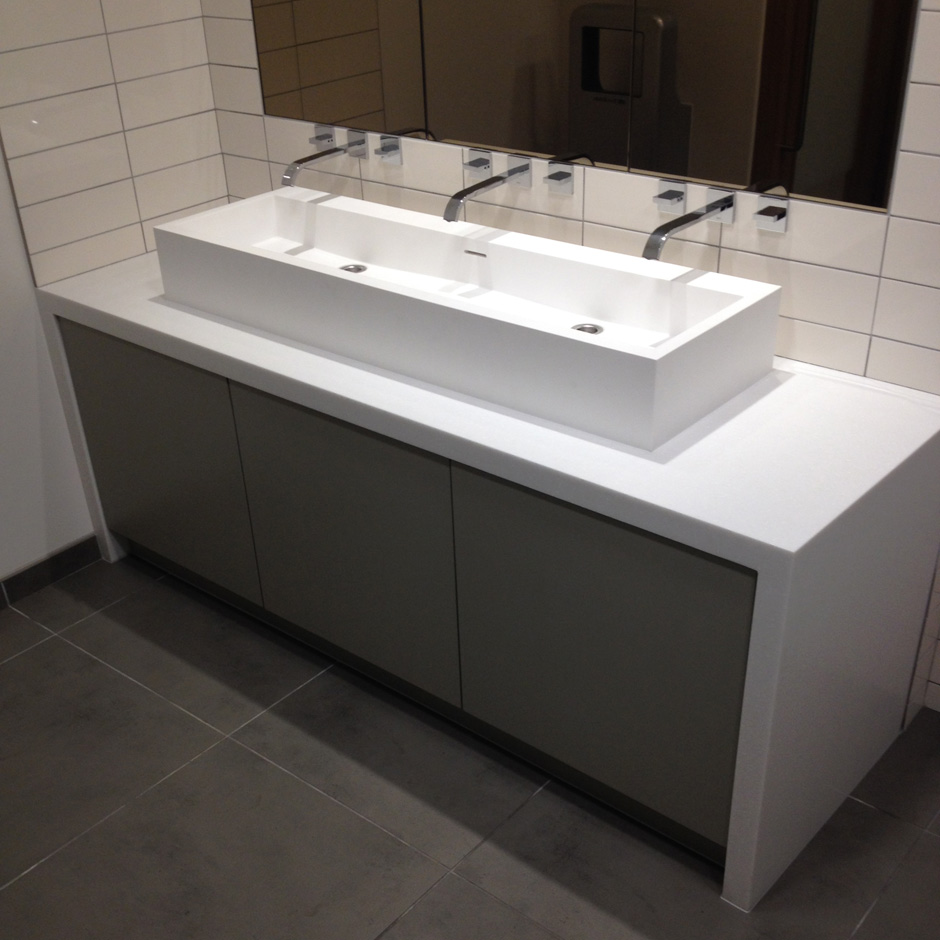 Custom Vanity with solid surface sink 5104.